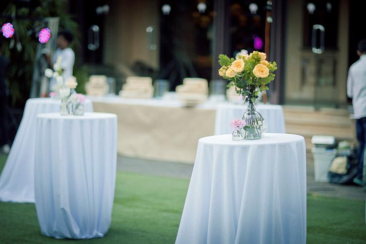 จัดดอกไม้งานแต่งที่สยามสมาคม
