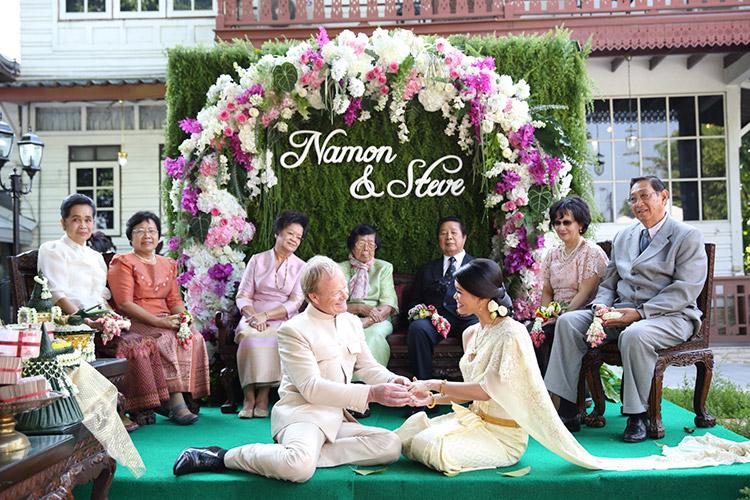 จัดดอกไม้งานแต่ง งานแต่งงาน พิธีไทย