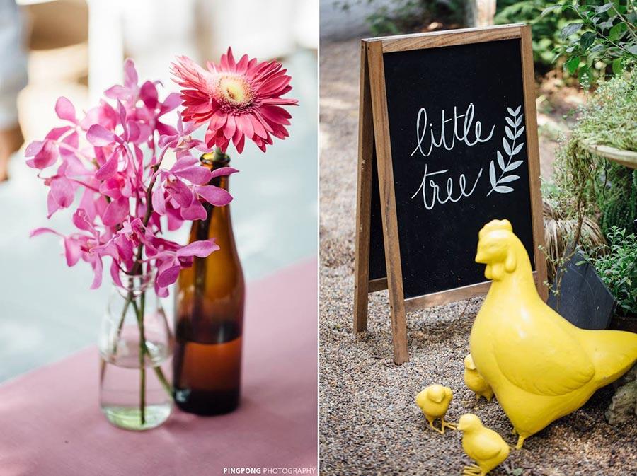 จัดดอกไม้งานแต่ง ที่ Little Tree Garden