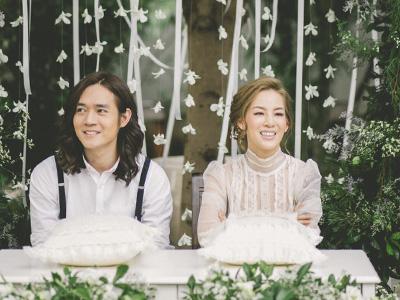 งานแต่ง มน room39 จัดดอกไม้งานแต่งในสวน